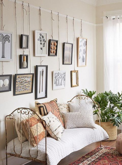Hang Art without Nails - How to Hang Art